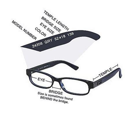 glasses diagram rx glasses measurements