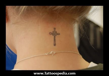 cross tattoo on your neck cross tattoos on the back of your neck