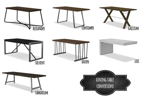 Dining Table Conversions by Mio   Teh Sims