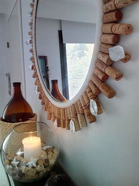 wine home decor hometalk diy wine cork mirror frame