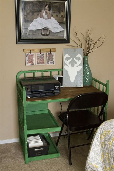 hometalk changing table converted to desk
