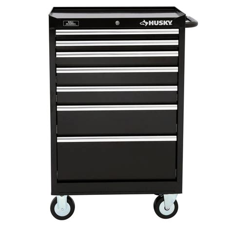 husky 5 drawer side cabinet husky 27 in w 7 drawer tool cabinet h7tr3 the home depot