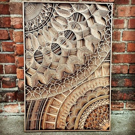 precision pattern works discover wooden art works of astonishing precision made