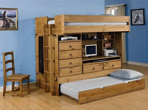 bunk bed desk combo wood bunk beds with desk image of twin size bunk beds ladder
