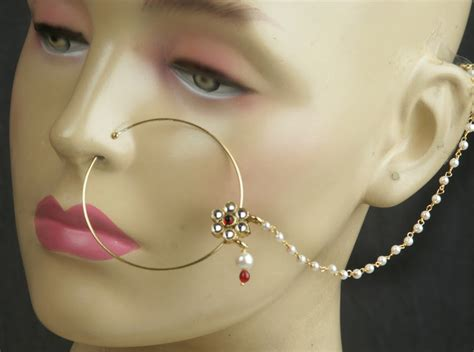 Wedding Nose Ring Design by Nath Nose Ring Design Culture Of Rajasthan