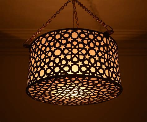 Handcrafted Lighting - unique moroccan handcrafted brass ceiling light fixture