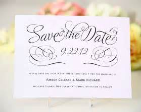 Wedding Save The Date Template by Save The Date Cards Templates For Weddings