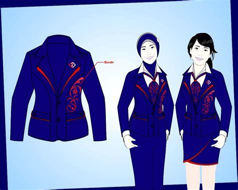 Seragam Kantor Blezer Wanita Kancing 4 sribu desain seragam kantor baju kaos seragam kerja blaze