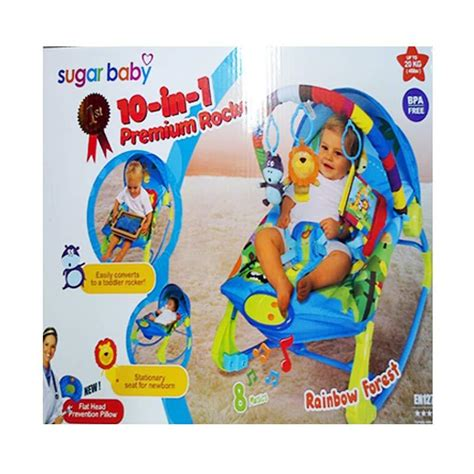 Bouncer Pliko Seperti Baru jual sugar baby rck30001 rocker rainbow forest