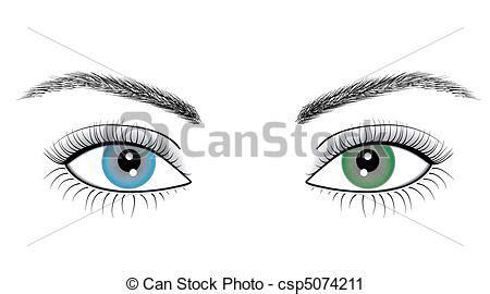 clipart occhi occhi donna illustrazione