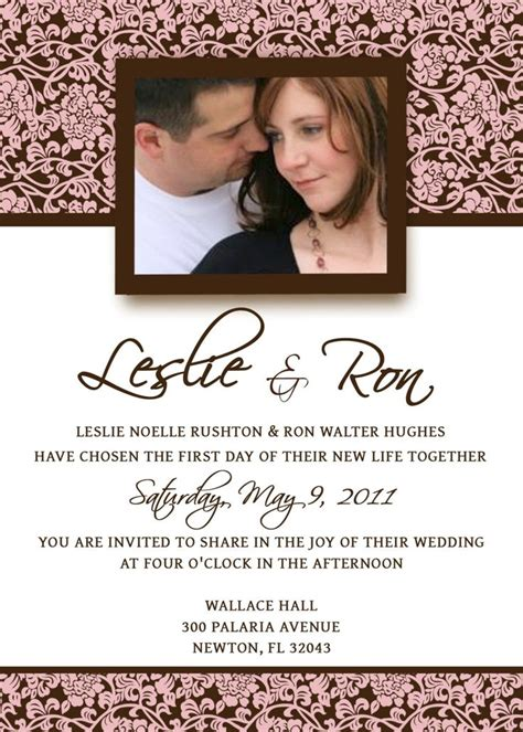 Homemade Wedding Invitation Template Invitation Wedding Invitation Template