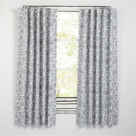 gray floral curtains go lightly curtains grey the land of nod