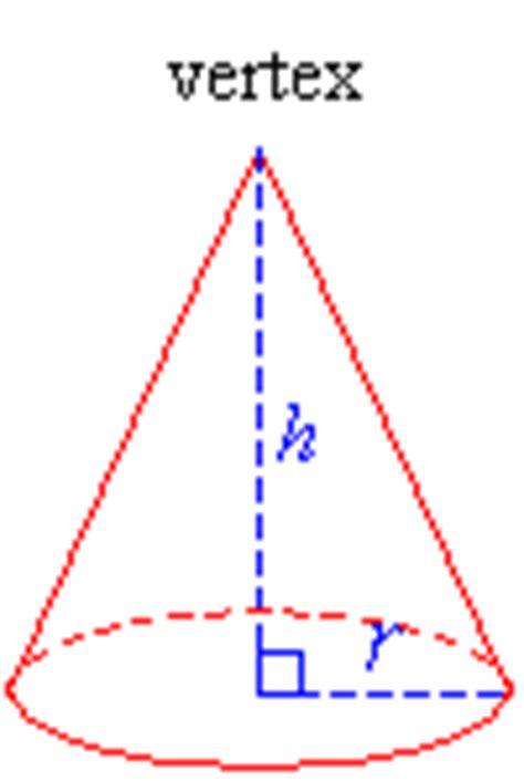 Cone Kerucut Solid matematika mencari volume pada bangun ruang solid geometry