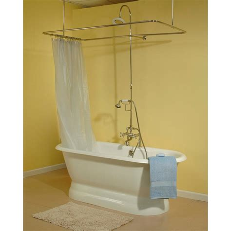 Shower Rod Clawfoot Tub by Affordable Shower Rod For Clawfoot Tub The Decoras