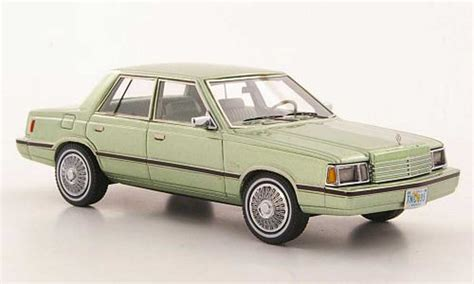 dodge aries k car green 1983 neo diecast model car 1 43