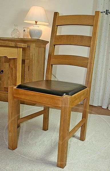 unfinished oak ladder back chairs oxford solid oak and leather ladder back dining chair