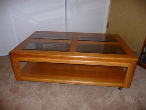 glass and oak coffee table glass top solid oak coffee table central nanaimo nanaimo