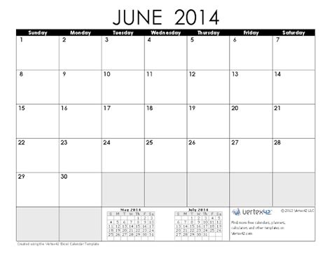 June 2014 Calendar Template by June 2014 Calendar Printable 2 Printable Calendar 2014