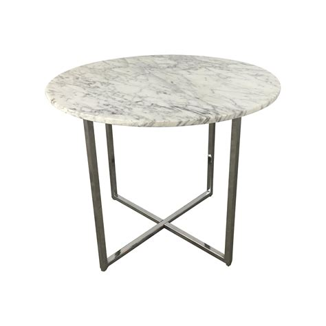 Marble Base Table L by Marble Side Table With Chrome Base Chairish