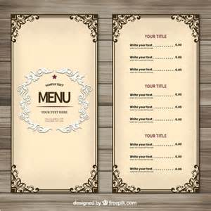 Free Menus Template by Menu Vectors Photos And Psd Files Free