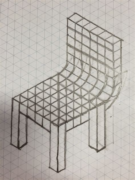 bryan tam cad 3 isometric drawings cardboard chair