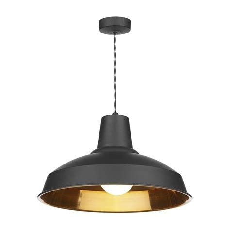 Stylish Ceiling Lights Dar Lighting Rec0154 Reclamation Stylish 1 Light Black Copper Ceiling Pendant Lighting From