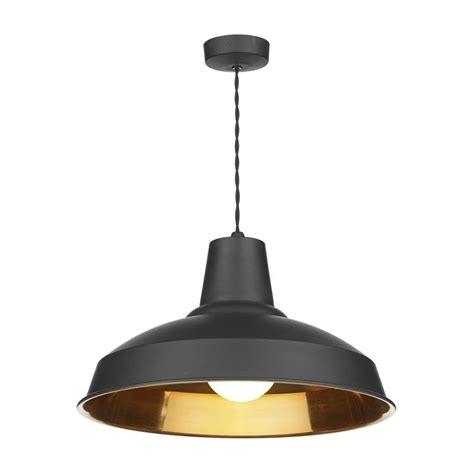 Dar Lighting Rec0154 Reclamation Stylish 1 Light Black Copper Pendant Ceiling Light