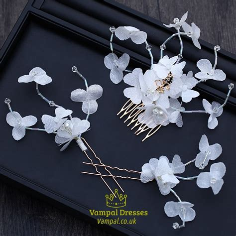 Maxi Flower Comb Toska Fit L chic fabric flower bridal comb hairpins set of 3 pieces val dresses