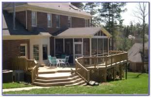 Backyard covered deck designs