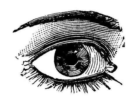 clipart occhi illustrazioni vintage in bianco e nero occhi vintage