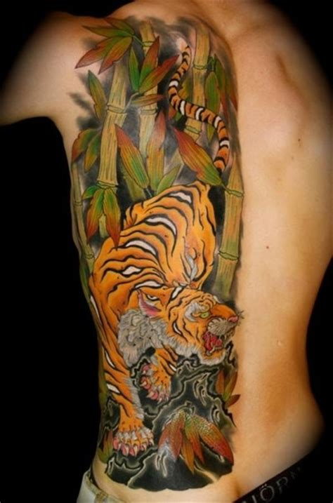 vivid colors japanese tiger tattoo on ribs tattooimages biz