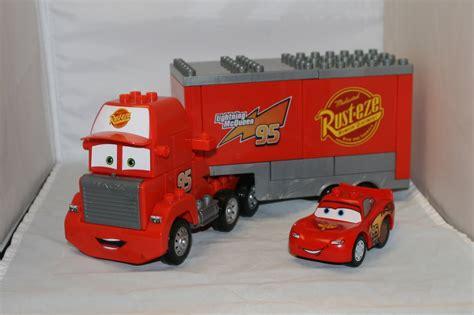 lightning mcqueen truck mega bloks mack truck and lego lightning mcqueen from