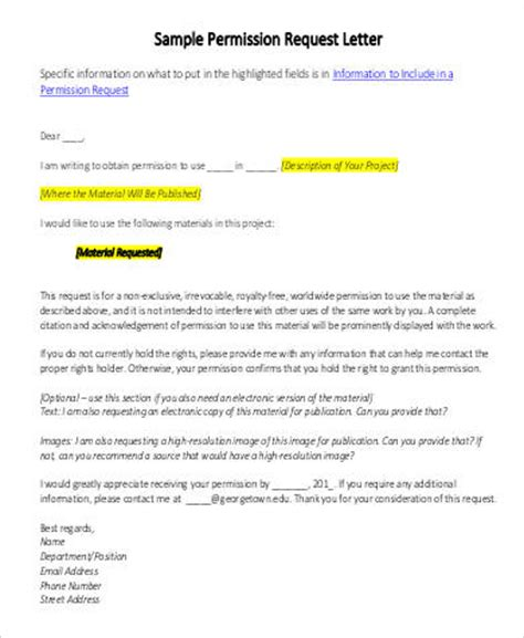 Permission Extension Letter Request Letters Format