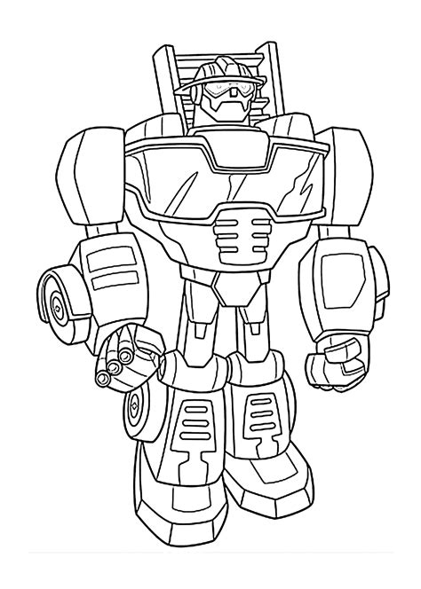 Printable Rescue Bots Coloring Pages free coloring pages of heatwave rescue bot