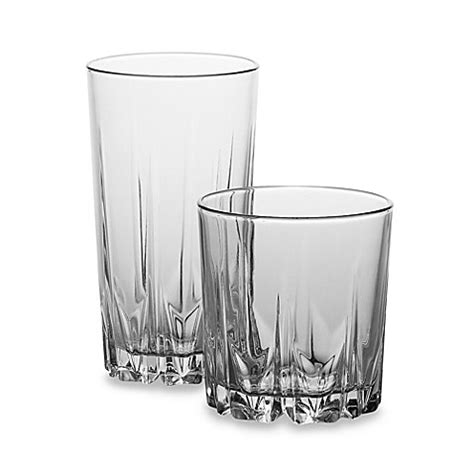 bed bath and beyond glassware diamante 16 piece glassware set bed bath beyond