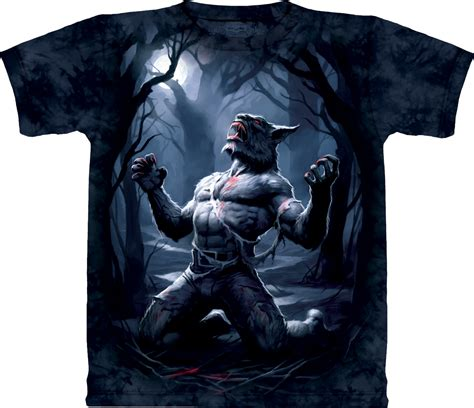 Kaos 3d The Mountain Dewasa Size M Blue Moon Wolves shirt