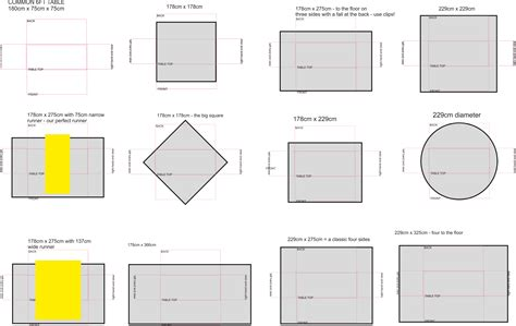 rectangle tablecloth size chart pictures to pin on