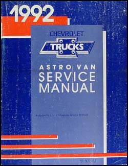 1992 chevrolet astro van repair shop manual original