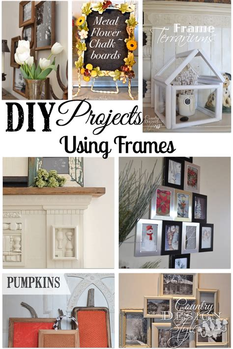 diy projects with picture frames frames country design style