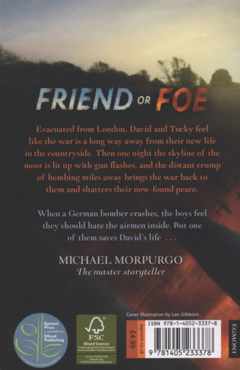 friend or foe 1405233370 friend or foe by morpurgo michael 9781405233378 brownsbfs