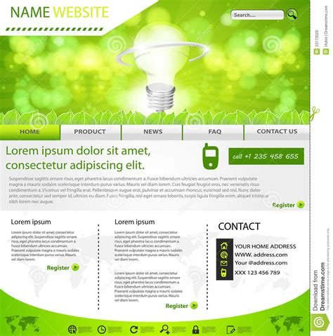 Website Eco Layout Template Stock Vector Image 23173029 Web Layout Templates