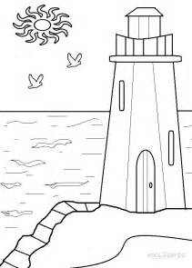 free coloring pages of lighthouse beach