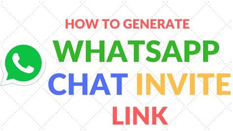 tutorial whatsapp link how to generate whatsapp chat invite link tutorial youtube