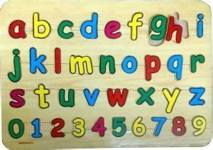 Puzzle Abjad Gambar puzzle huruf kecil dan angka toko mainan anak edukatif