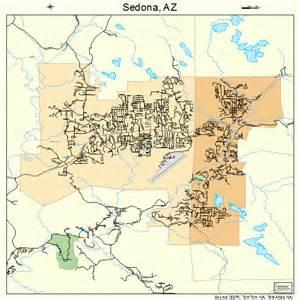 map arizona sedona sedona arizona map 0465350