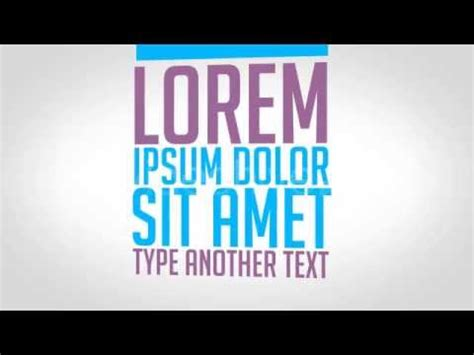 kinetic typography promo after effects videohive template