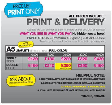 leaflet design price list the leaflet guru leaflet flyer design printing service