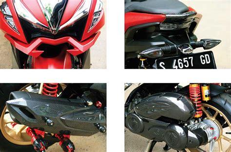 Winglet Carbon Karbon Yamaha Aerox yamaha aerox 17 tuban total facelift