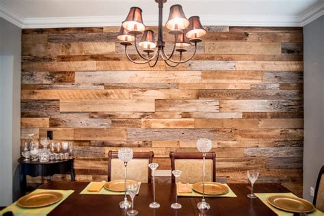 reclaimed wood divider the hughes dining room reclaimed wood accent wall fama