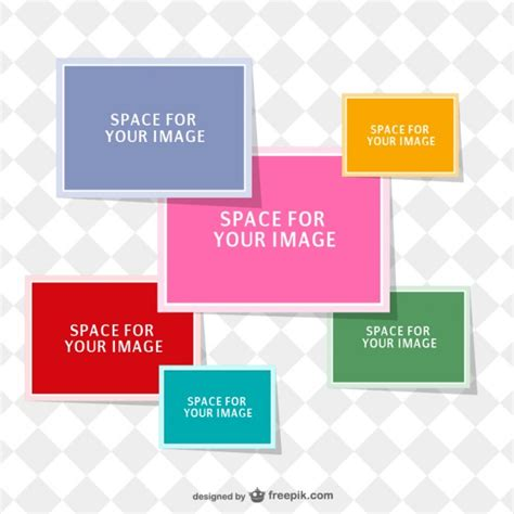 photo collage template vector free download